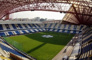 A general view of Estadio Municipal de Riazor GV