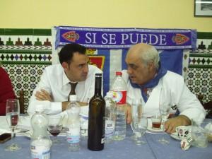 Los presidentes de FPRZ y de PZ Tarragona charlando en la comida