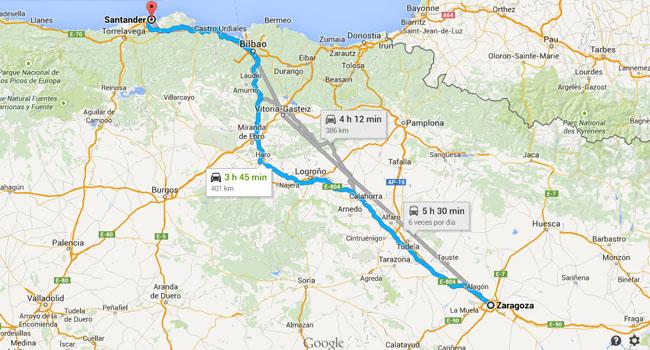 Desplazamiento a Santander